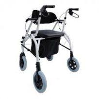 Andador 4 Rodas 2 em 1 Vira Cadeira de Rodas